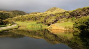 The Pond and Mount Kairou Shrouded in Cloud